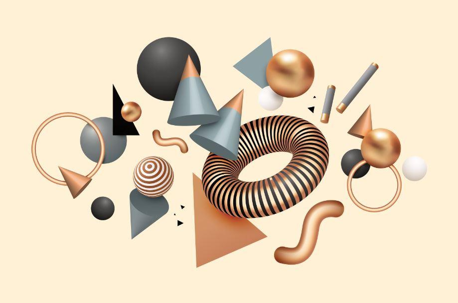 سه بعدی کردن اشکال هندسی