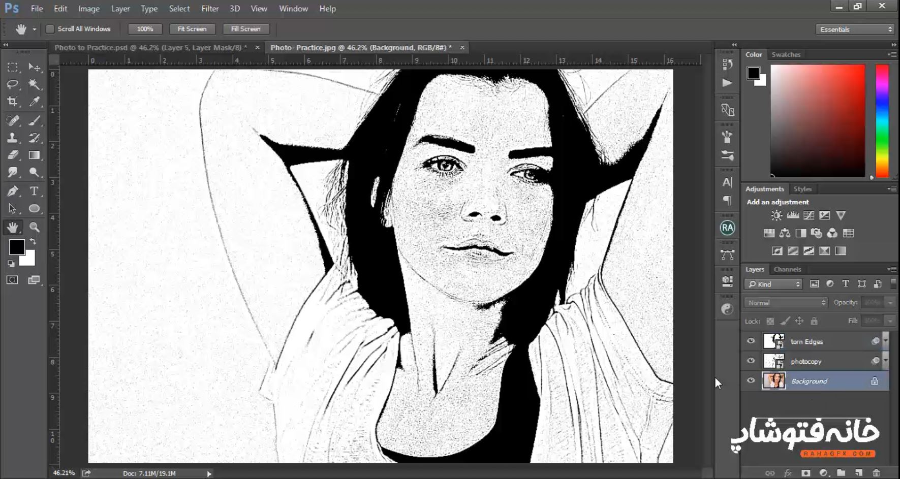 تبدیل عکس به کارتون بدون ابزار
