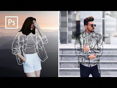 لباس نامرئی با تکنیک لاین آرت
