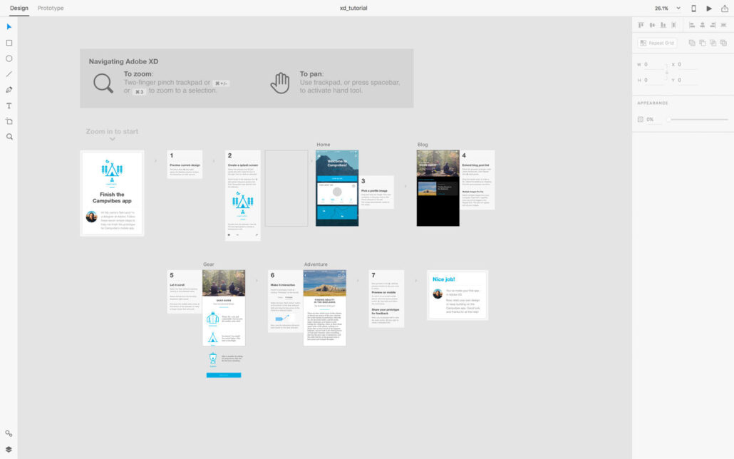 ایکسدی برای طراحی وب