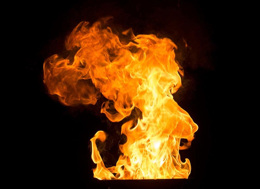 افکت آتش روی متن