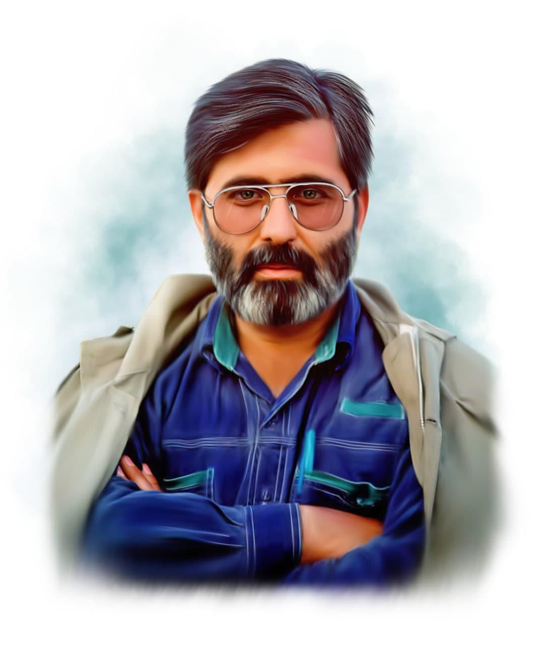 نقاشی شهید مرتضی آوینی