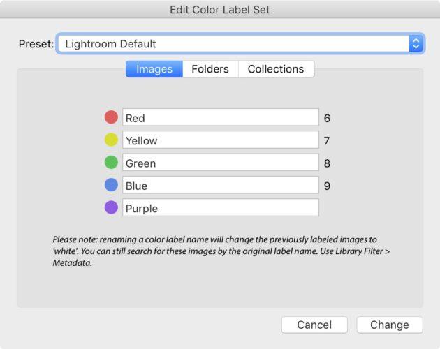 Color label در لایتروم