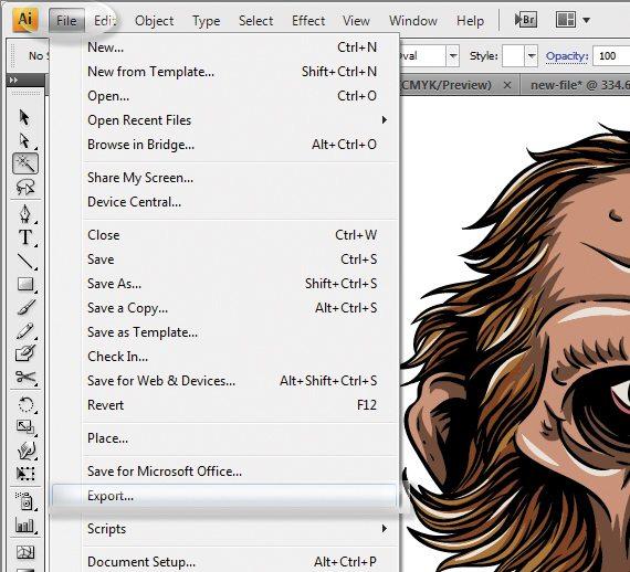 باز کردن فایل EPS در فتوشاپ