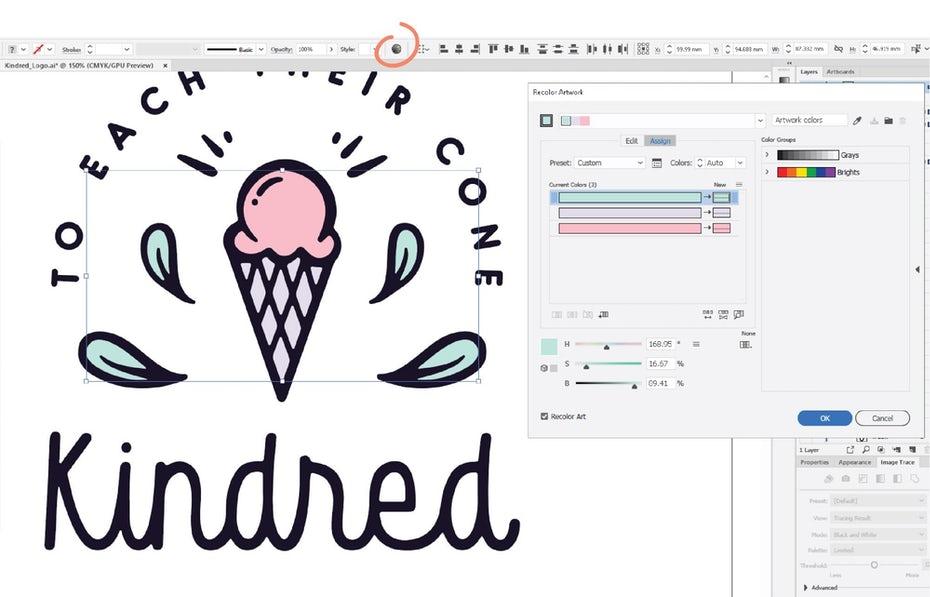 آموزش طراحی لوگو با ایلوستریتور