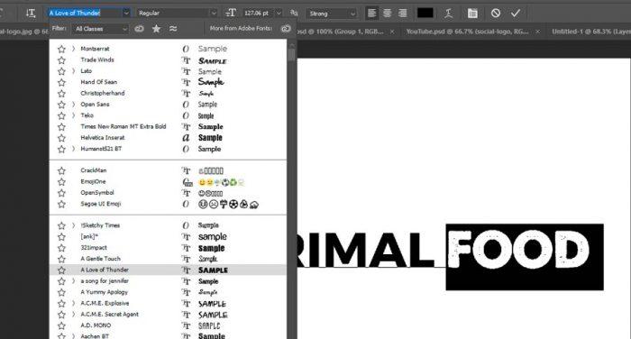 آموزش طراحی لوگو نوشتاری در فتوشاپ